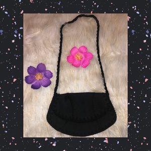 ❤️4/$20 Cute little black evening bag w/mid strap